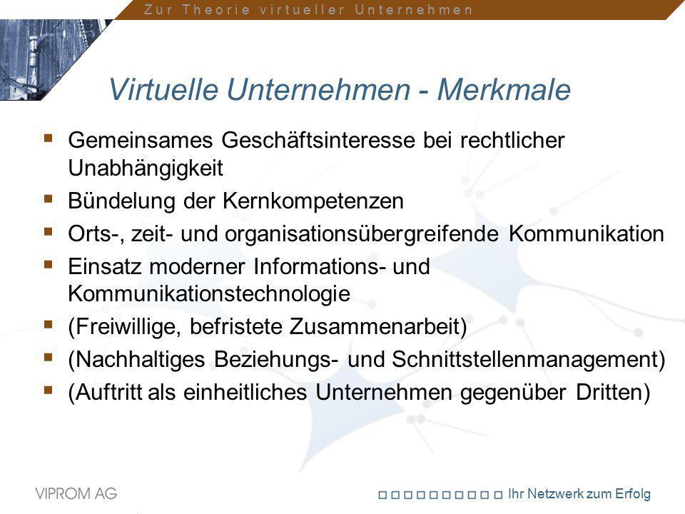 Virtuelle Unternehmen - Merkmale