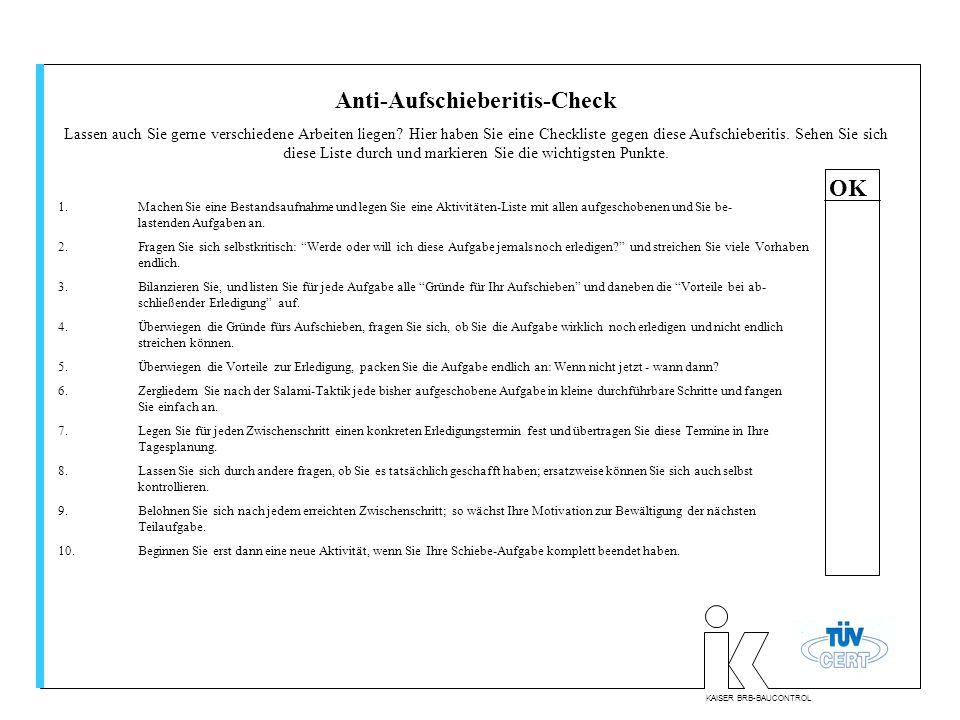 Anti-Aufschieberitis-Check