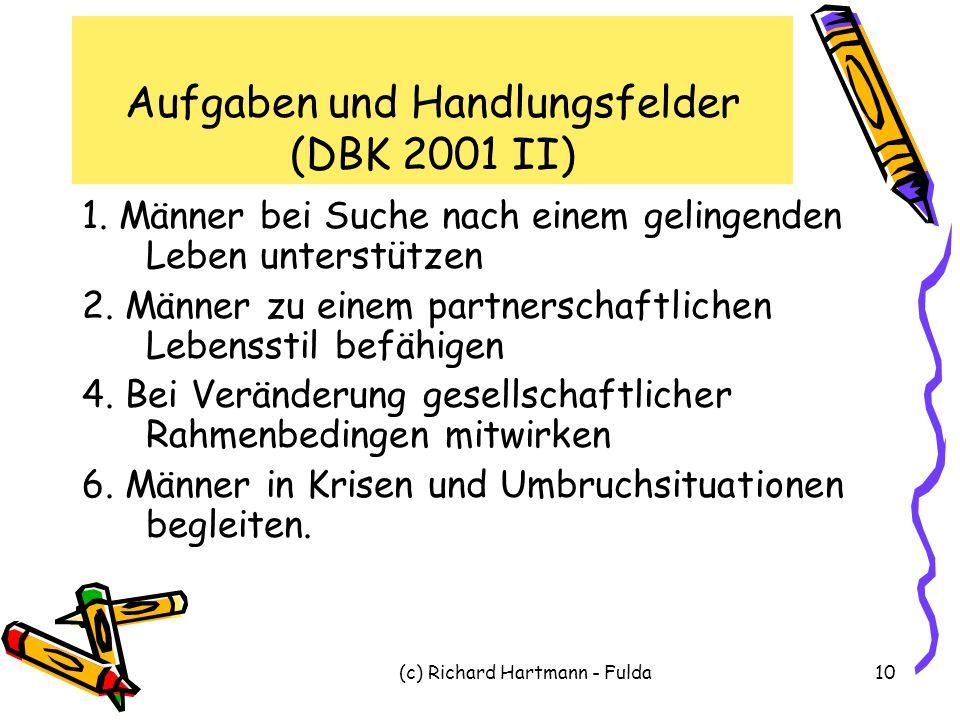Aufgaben und Handlungsfelder (DBK 2001 II)