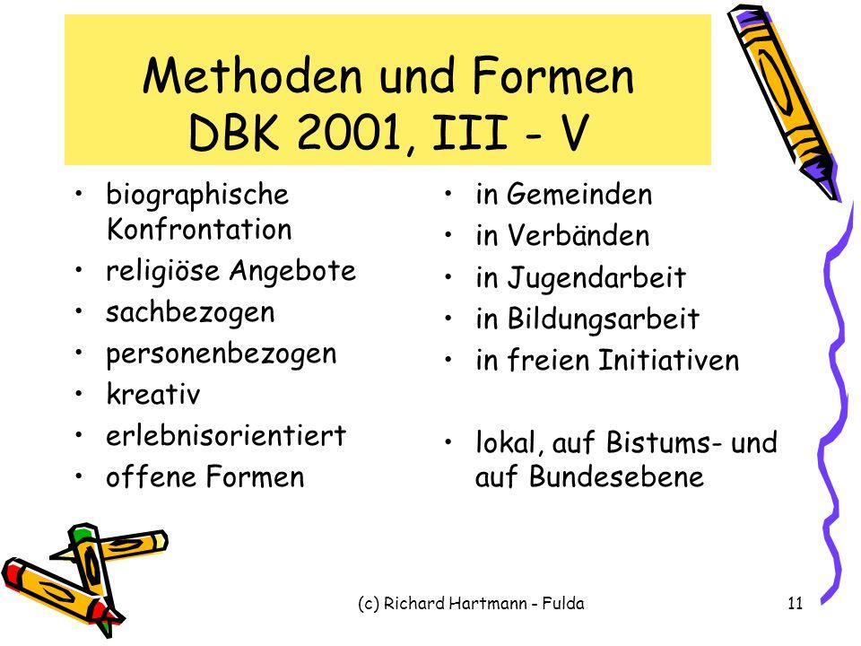 Methoden und Formen DBK 2001, III - V
