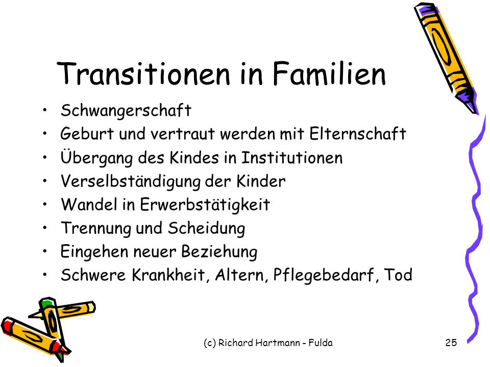 Transitionen in Familien