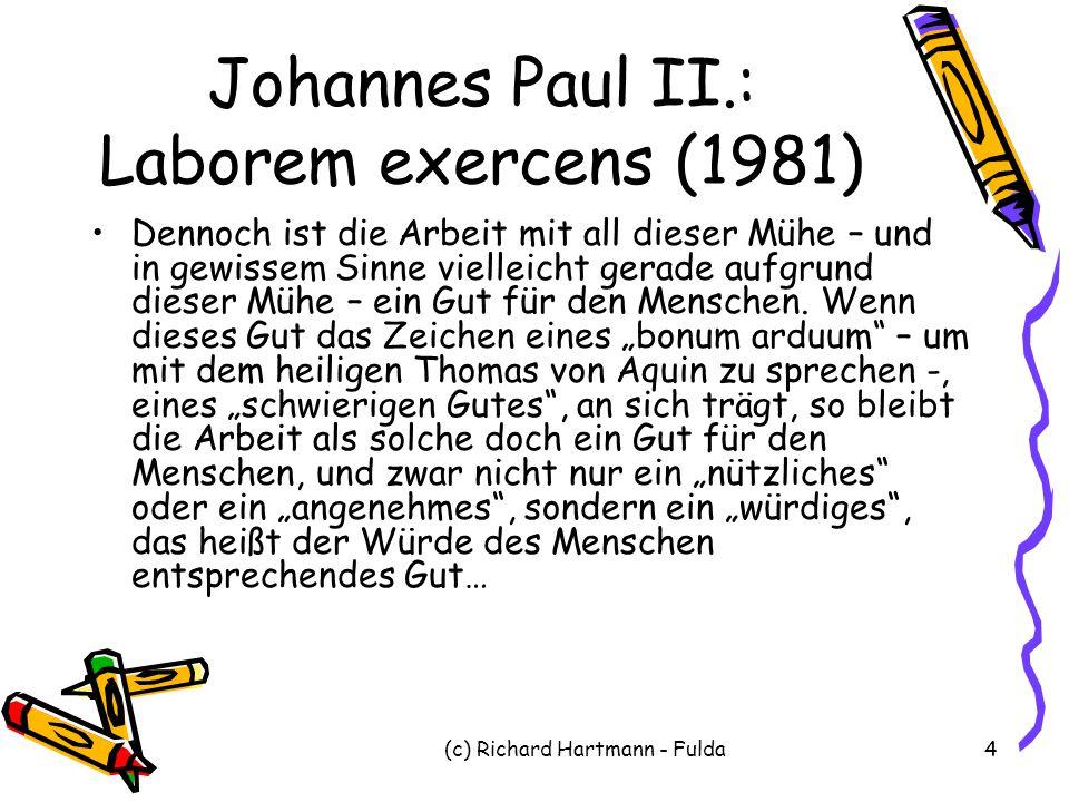Johannes Paul II.: Laborem exercens (1981)