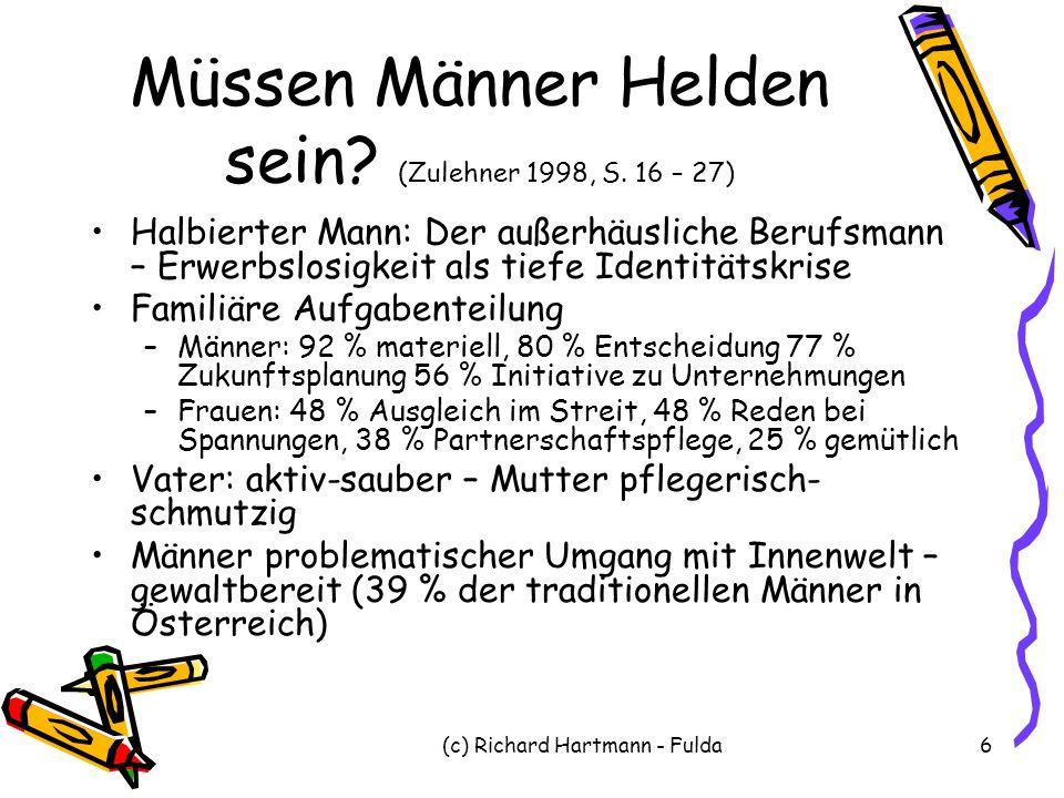 Müssen Männer Helden sein (Zulehner 1998, S. 16 – 27)