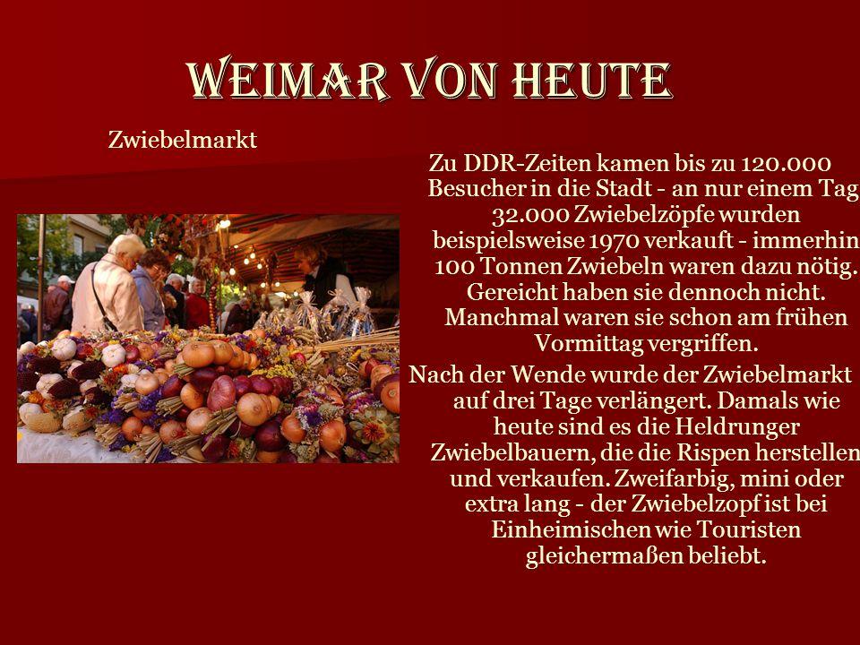 Weimar von heute Zwiebelmarkt