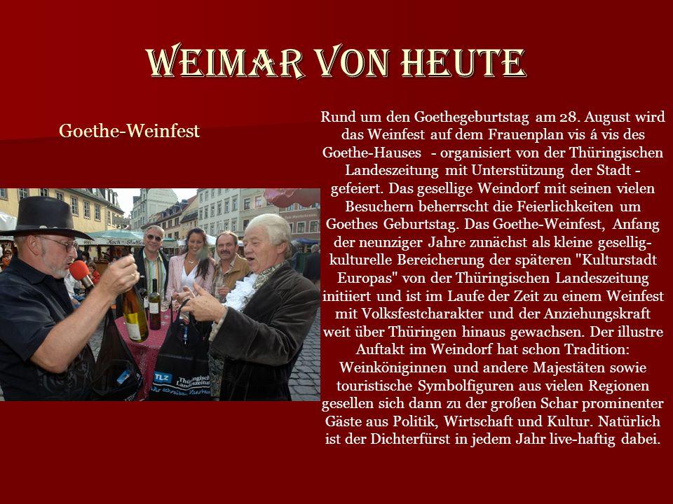 Weimar von heute Goethe-Weinfest