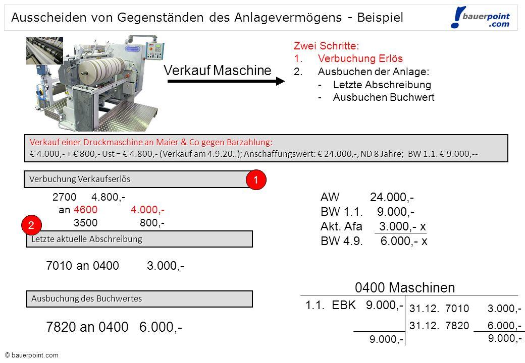 Verkauf Maschine 0400 Maschinen 7820 an 0400 6.000,-