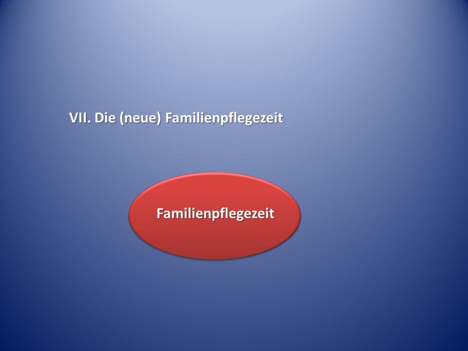 VII. Die (neue) Familienpflegezeit