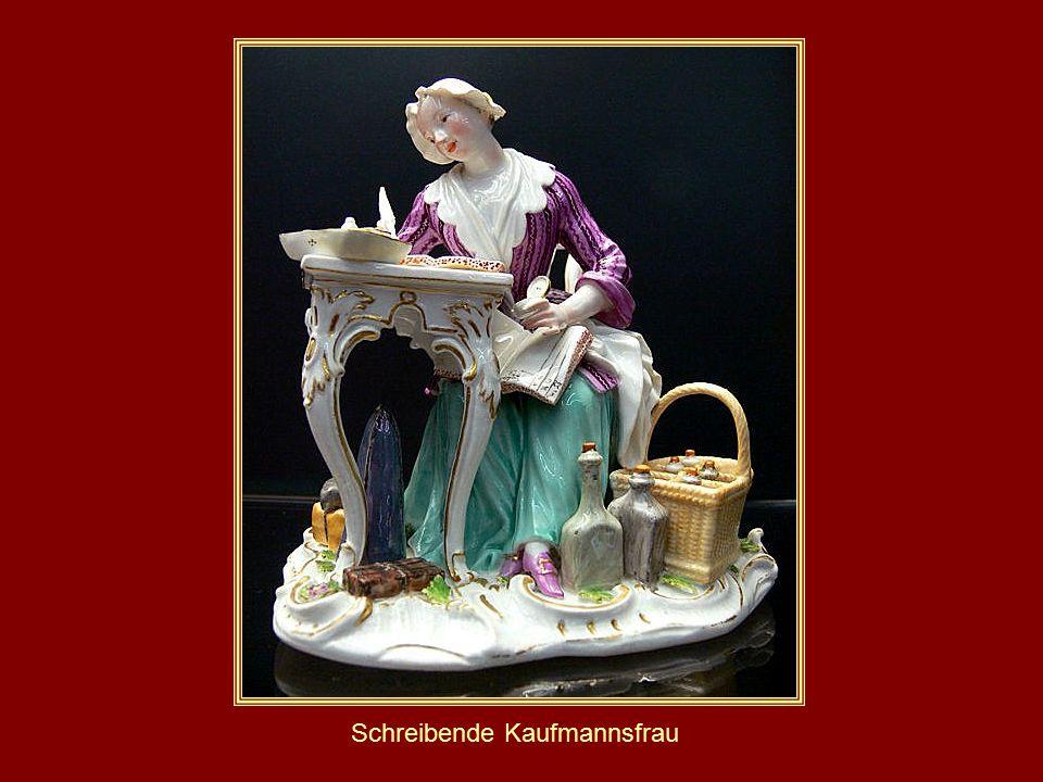 Schreibende Kaufmannsfrau