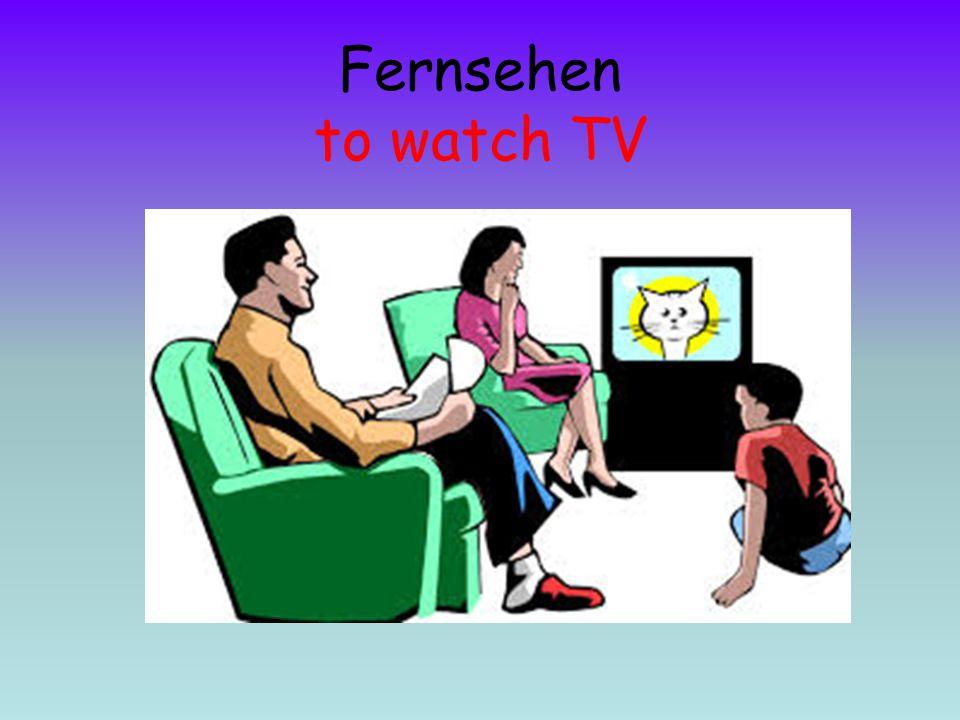 Fernsehen to watch TV