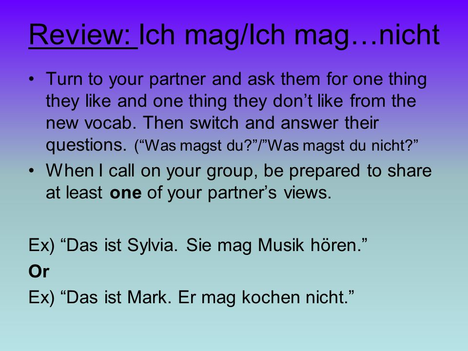 Review: Ich mag/Ich mag…nicht