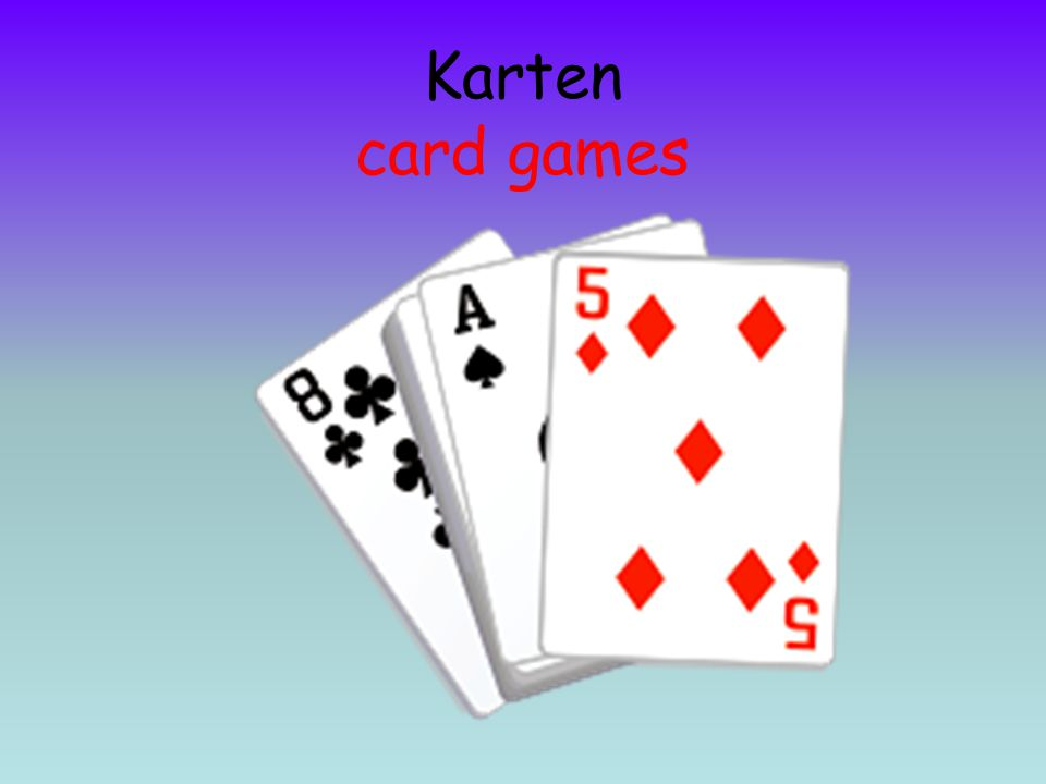 Karten card games