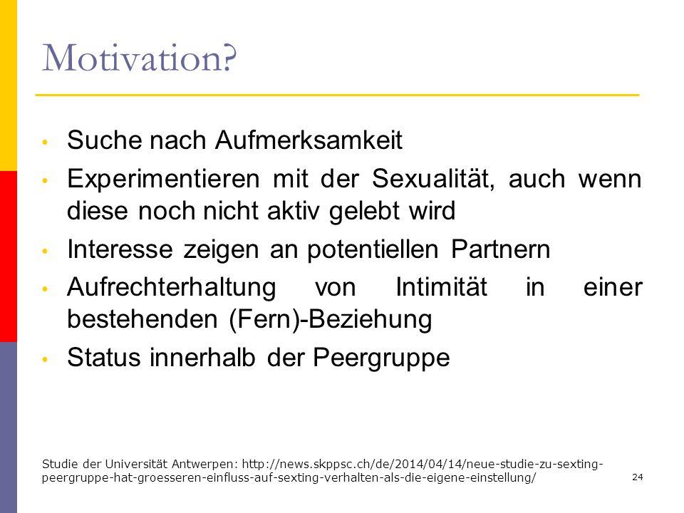 Motivation Suche nach Aufmerksamkeit