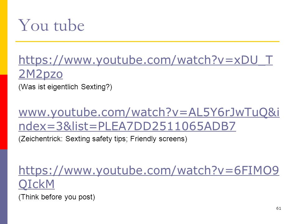 You tube   v=xDU_T2M2pzo