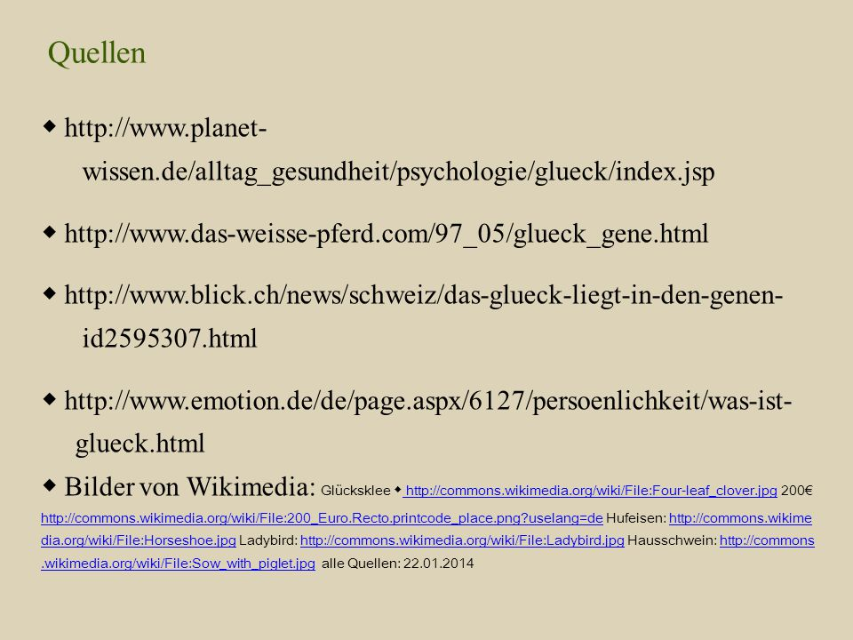 Quellen ◆ http://www.planet-