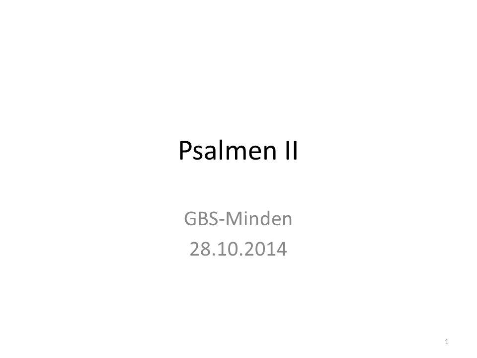 Psalmen II GBS-Minden 28.10.2014