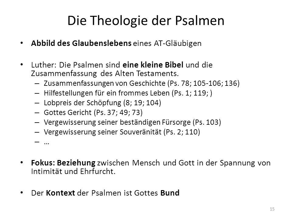 Die Theologie der Psalmen