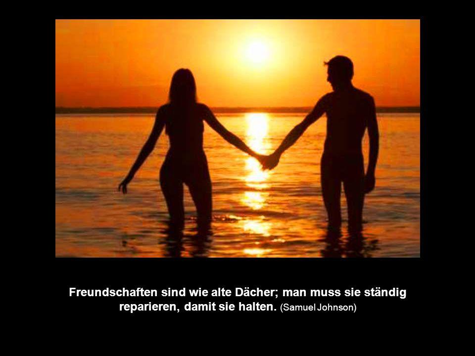 Freundschaften sind wie alte Dächer; man muss sie ständig reparieren, damit sie halten.