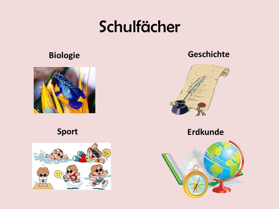 Schulfächer Biologie Geschichte Sport Erdkunde