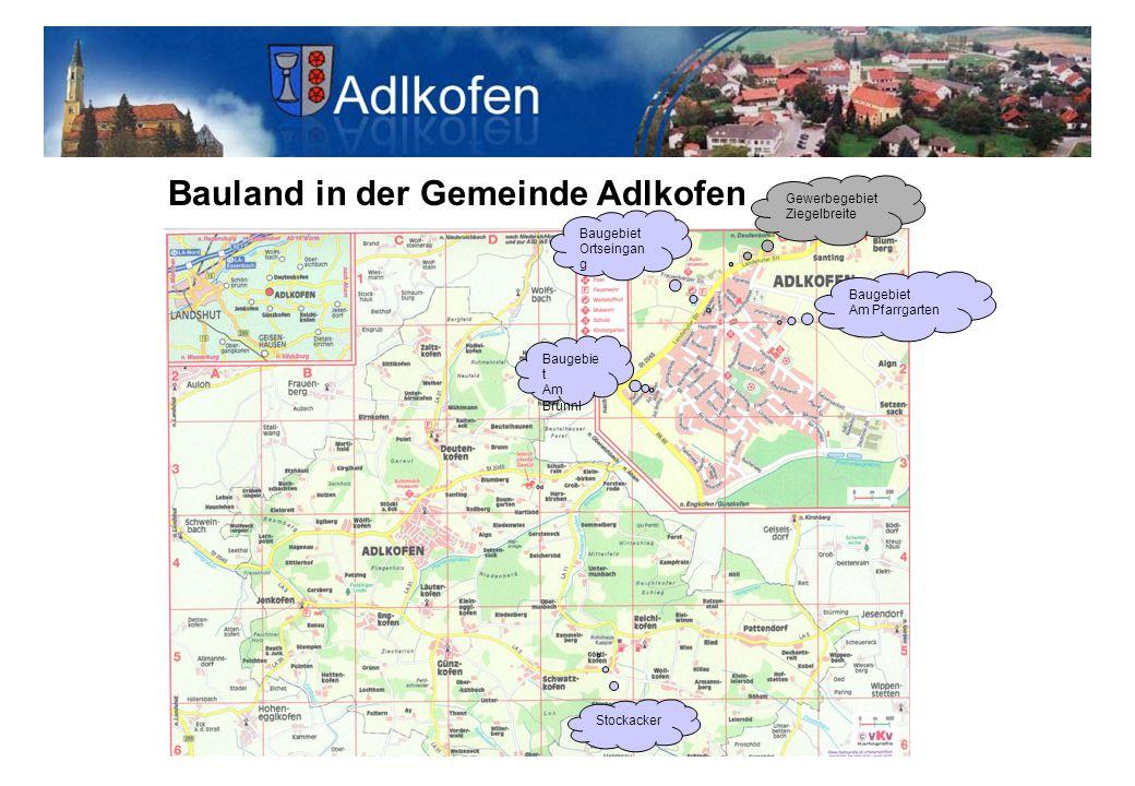 Bauland in der Gemeinde Adlkofen