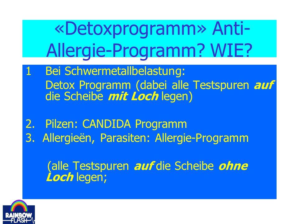 «Detoxprogramm» Anti-Allergie-Programm WIE