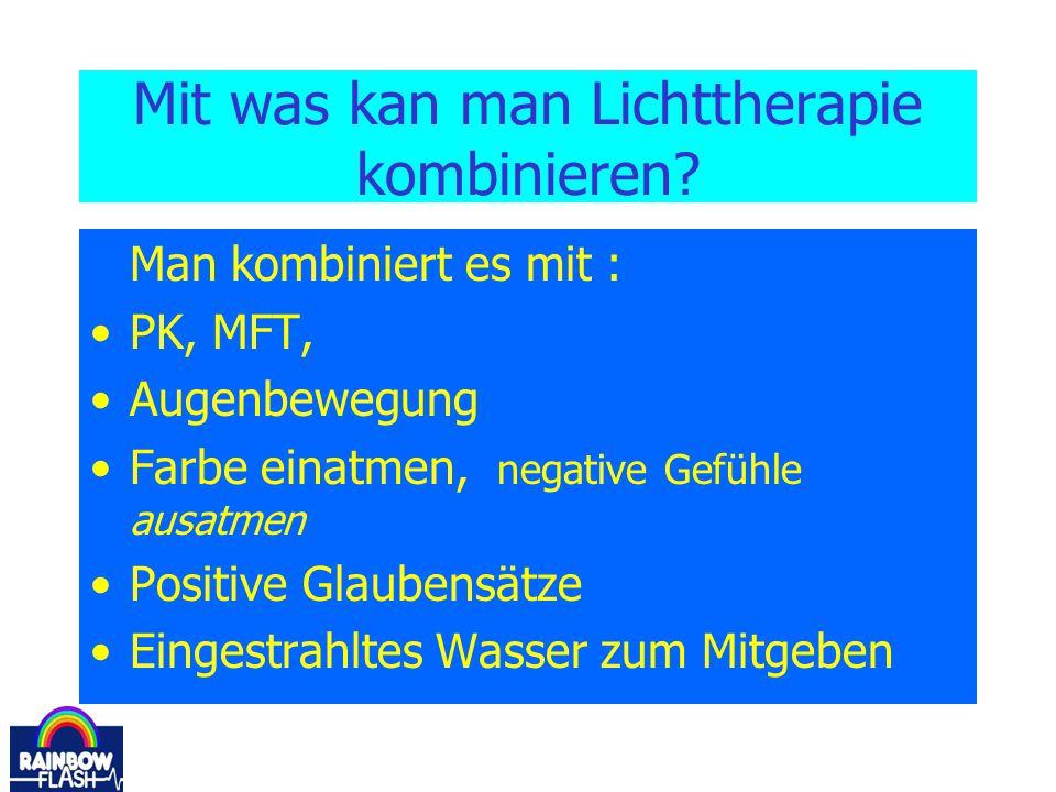 Mit was kan man Lichttherapie kombinieren
