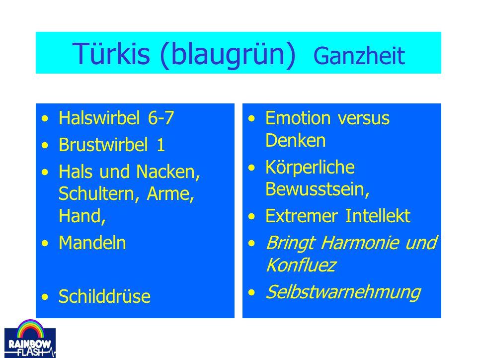 Türkis (blaugrün) Ganzheit