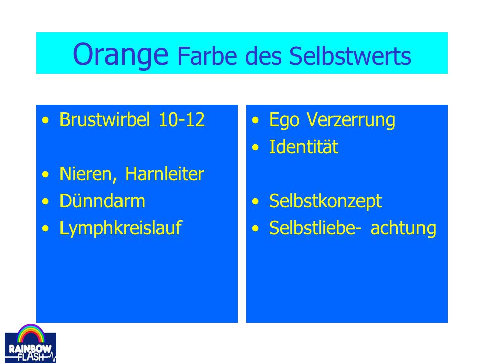 Orange Farbe des Selbstwerts