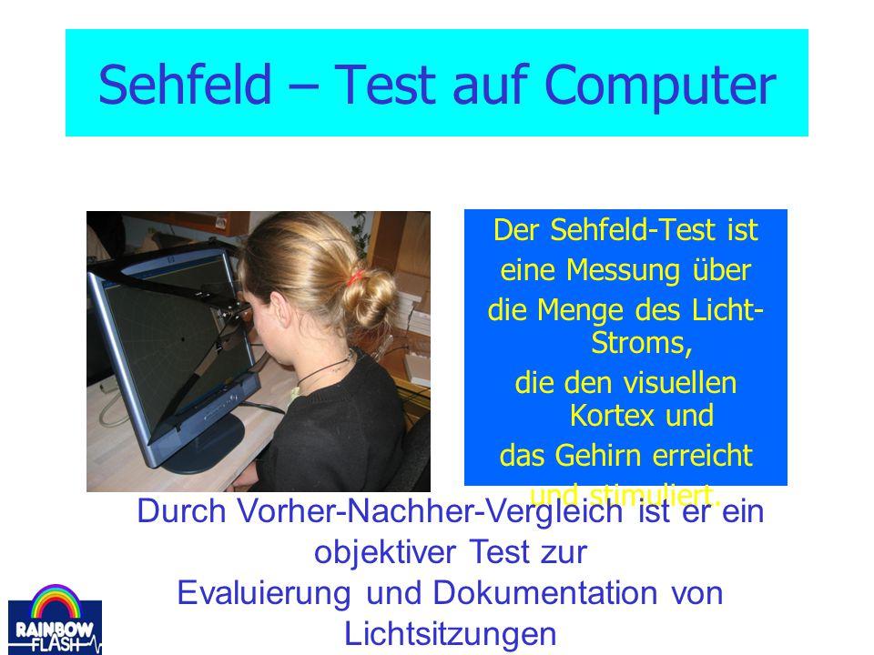 Sehfeld – Test auf Computer