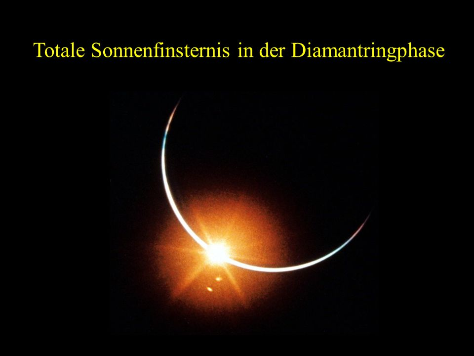Totale Sonnenfinsternis in der Diamantringphase