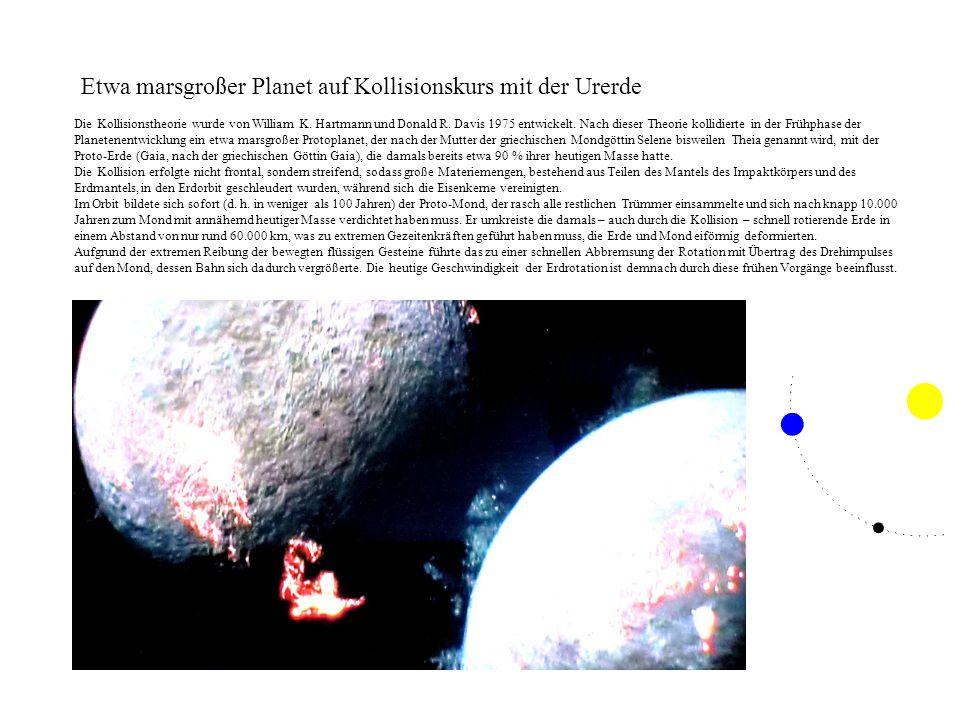 Etwa marsgroßer Planet auf Kollisionskurs mit der Urerde