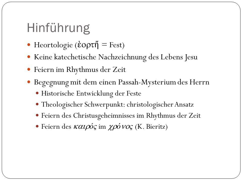 Hinführung Heortologie (ἑortἤ = Fest)