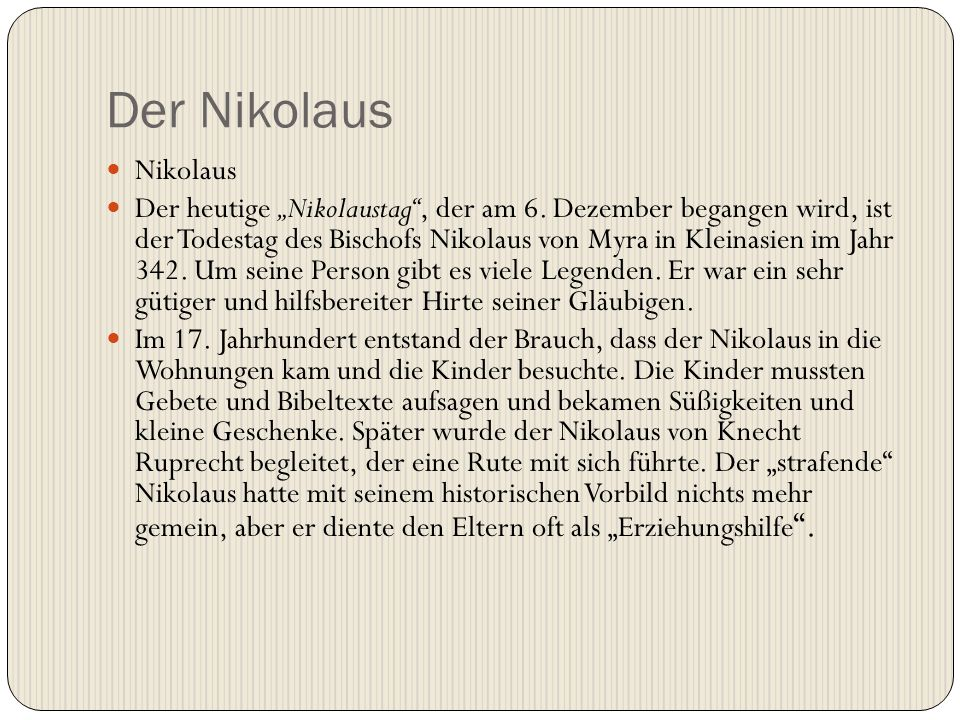 Der Nikolaus Nikolaus.