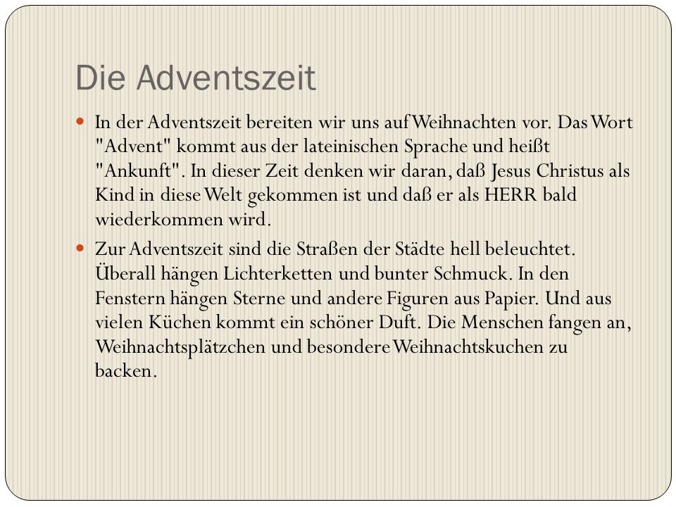 Die Adventszeit