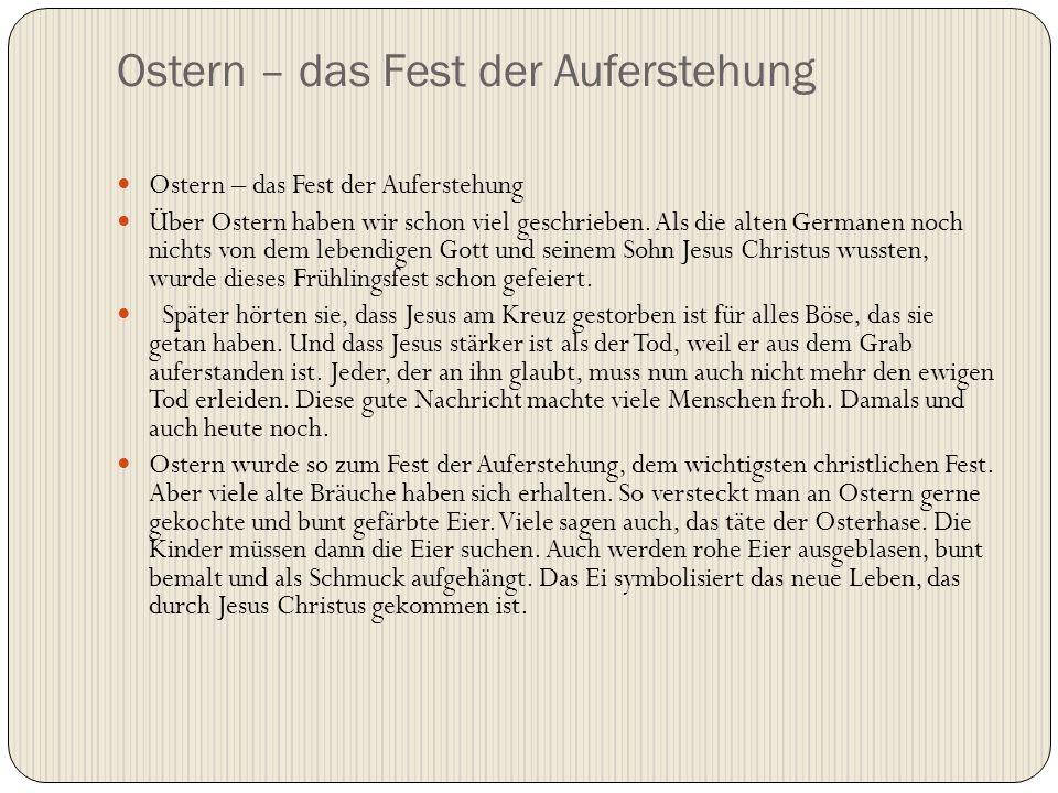 Ostern – das Fest der Auferstehung