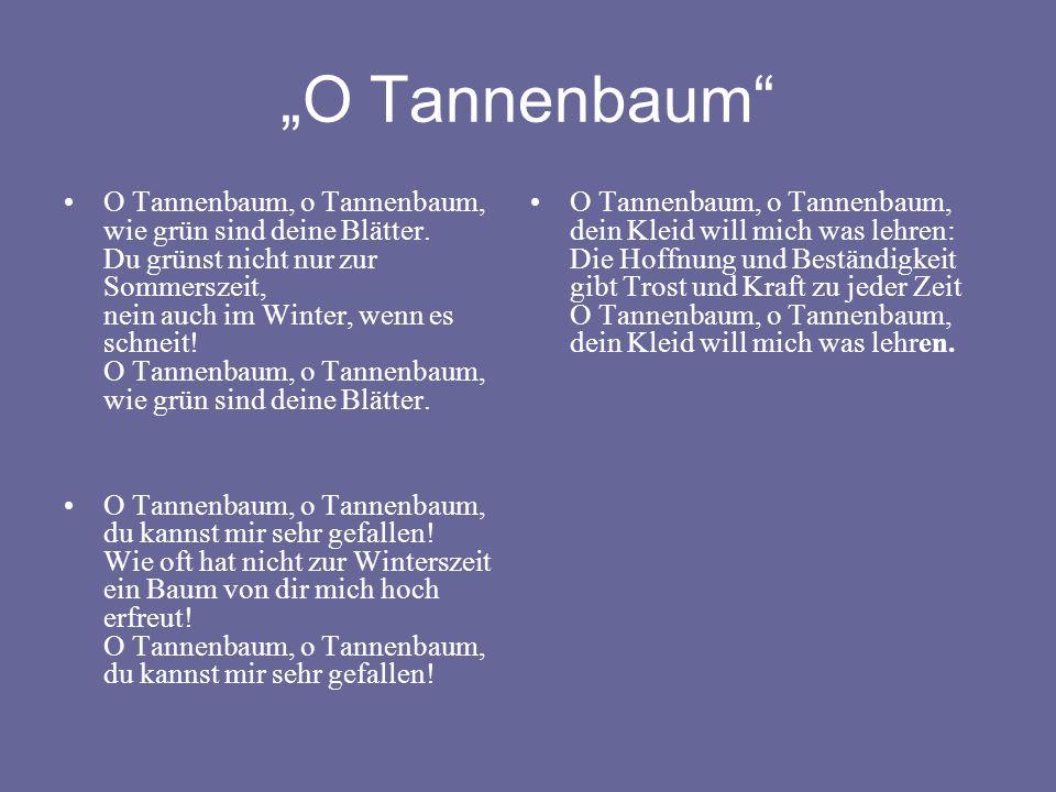 """""""O Tannenbaum"""