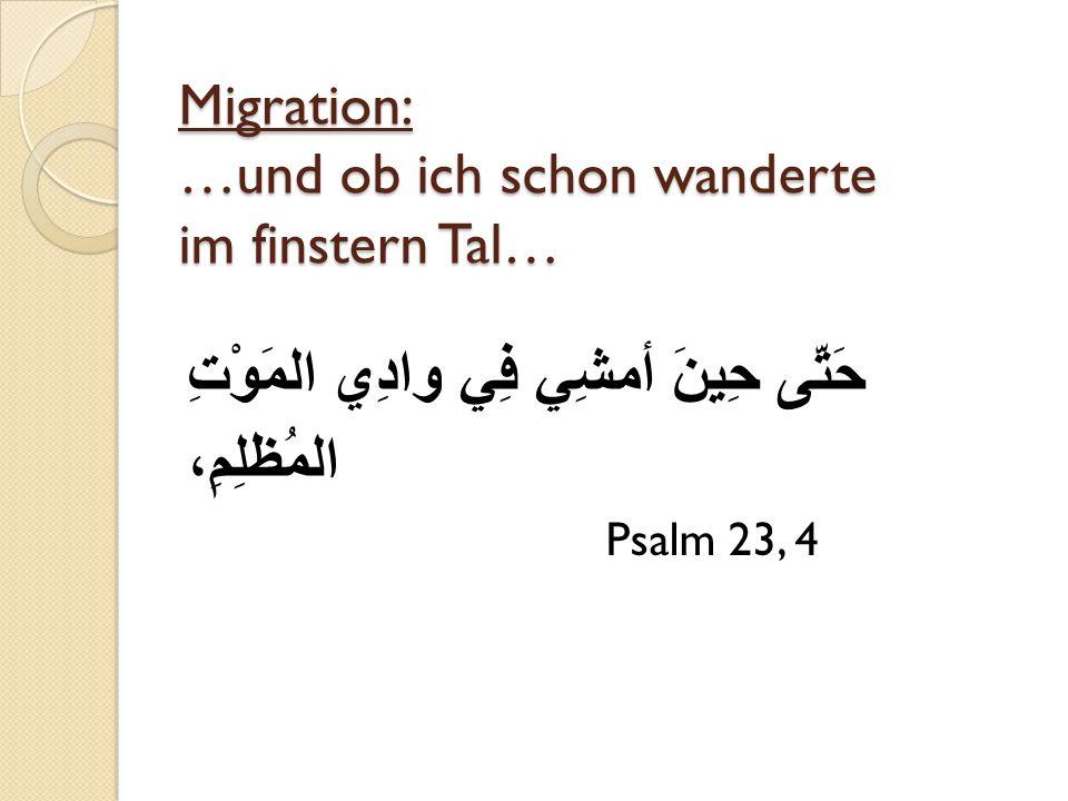 Migration: …und ob ich schon wanderte im finstern Tal…