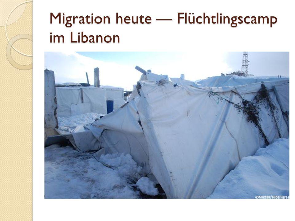 Migration heute — Flüchtlingscamp im Libanon