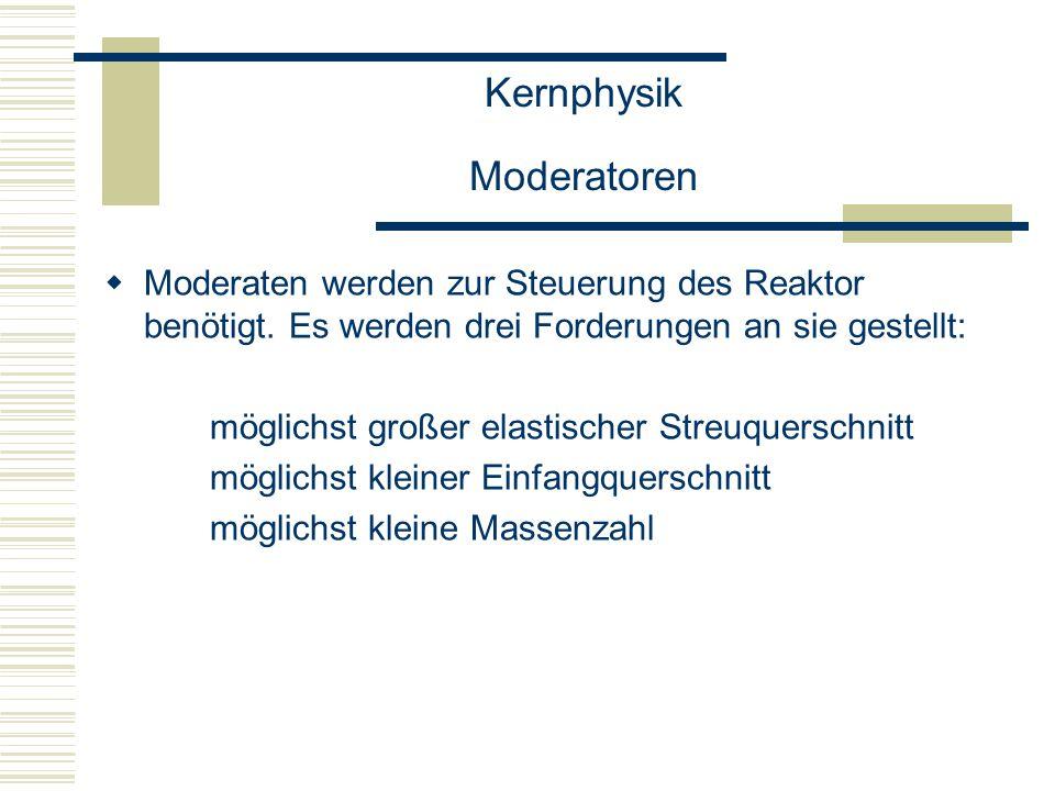 Kernphysik Moderatoren