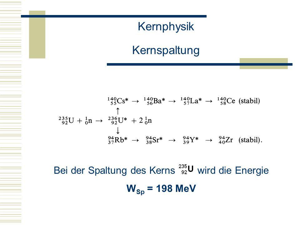 Kernphysik Kernspaltung