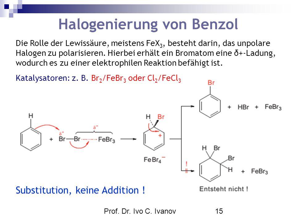Halogenierung von Benzol
