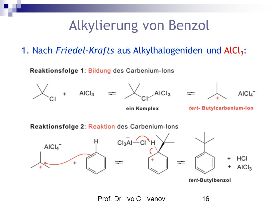 Alkylierung von Benzol