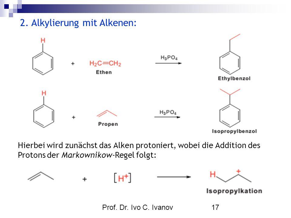 2. Alkylierung mit Alkenen:
