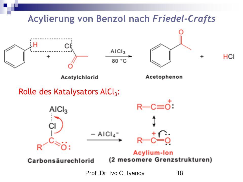 Acylierung von Benzol nach Friedel-Crafts