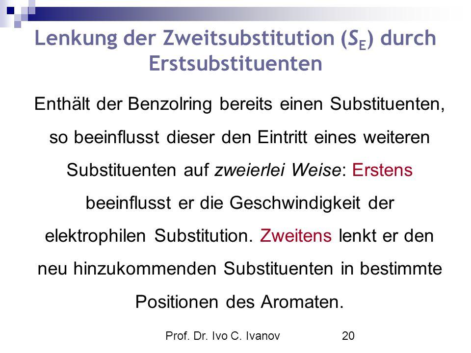 Lenkung der Zweitsubstitution (SE) durch Erstsubstituenten