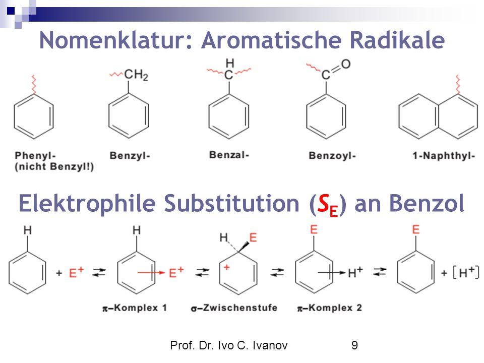 Nomenklatur: Aromatische Radikale