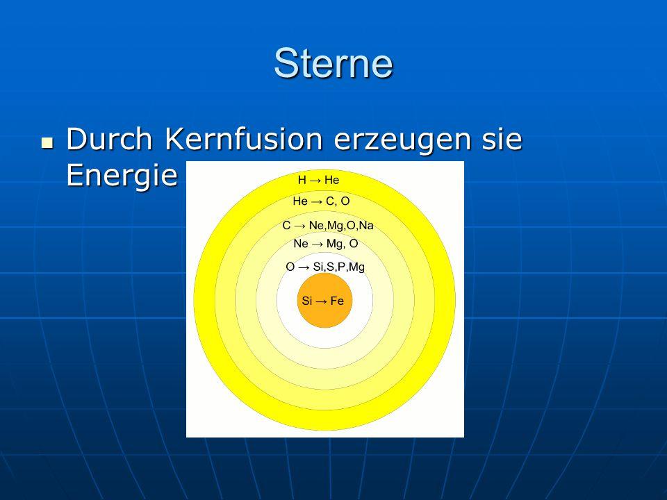 Sterne Durch Kernfusion erzeugen sie Energie