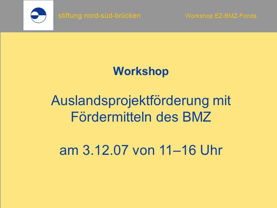 Auslandsprojektförderung mit Fördermitteln des BMZ