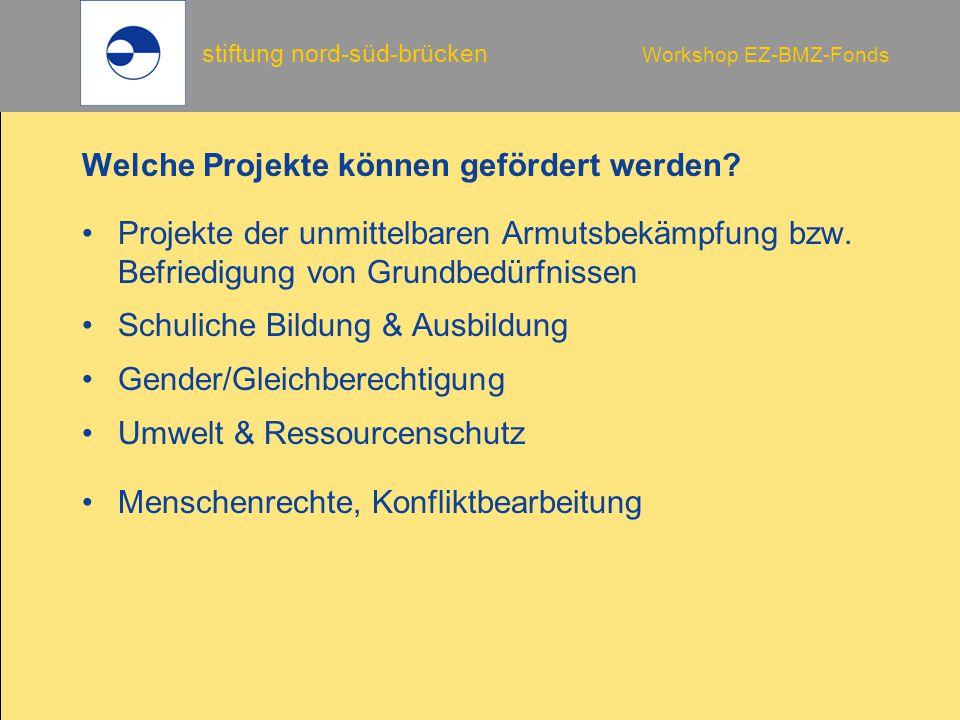 Welche Projekte können gefördert werden