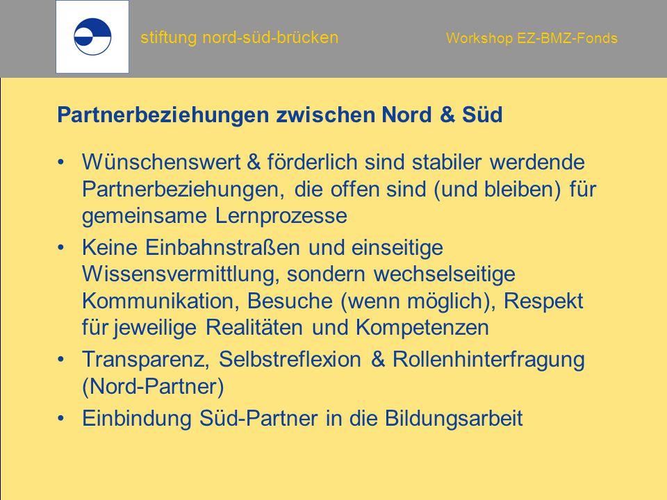 Partnerbeziehungen zwischen Nord & Süd