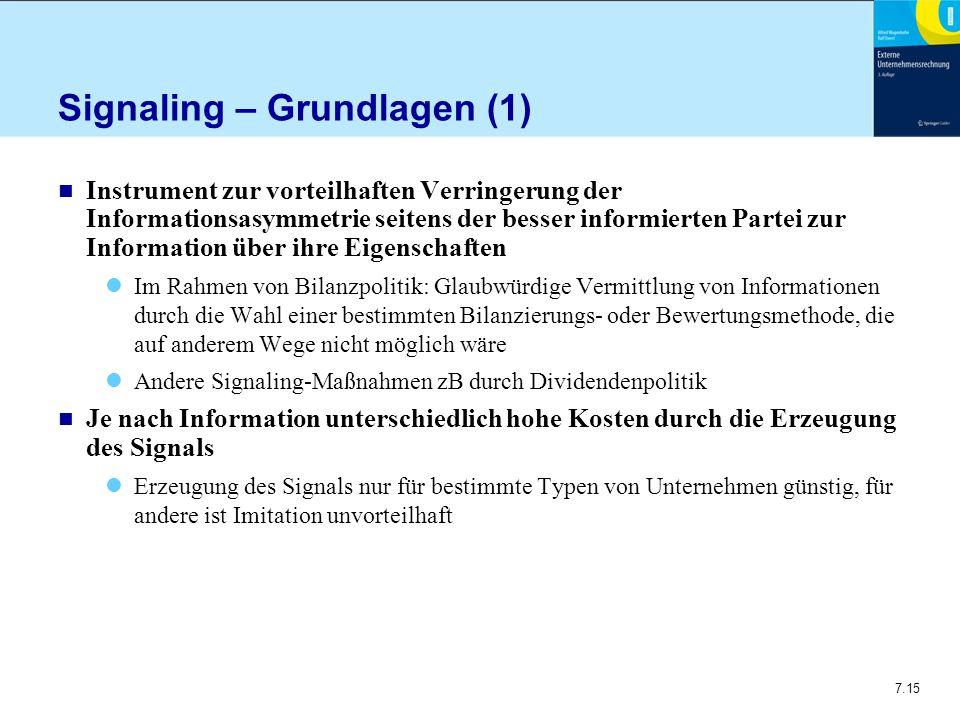 Signaling – Grundlagen (1)